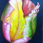 "Tulip 2. Acrylic on Canvas.  24"" x 30"""